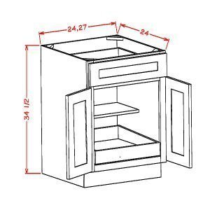 Double-Door-Single-Drawer-1-Rollout-ShelfBase
