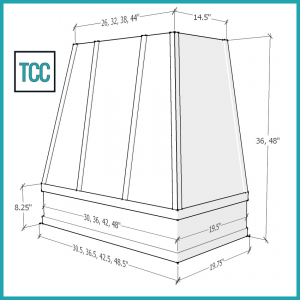 Tapered Strap Moulding Diagram