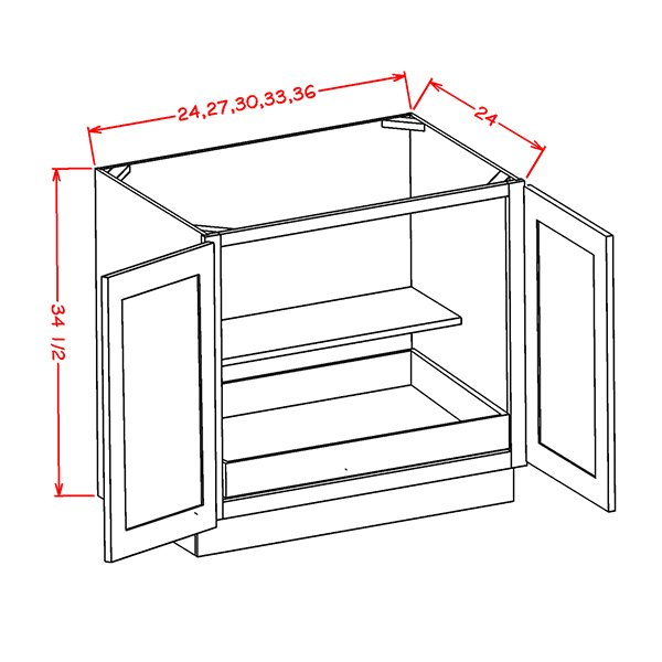 full-height-double-door-single-rollout-shelf-bases