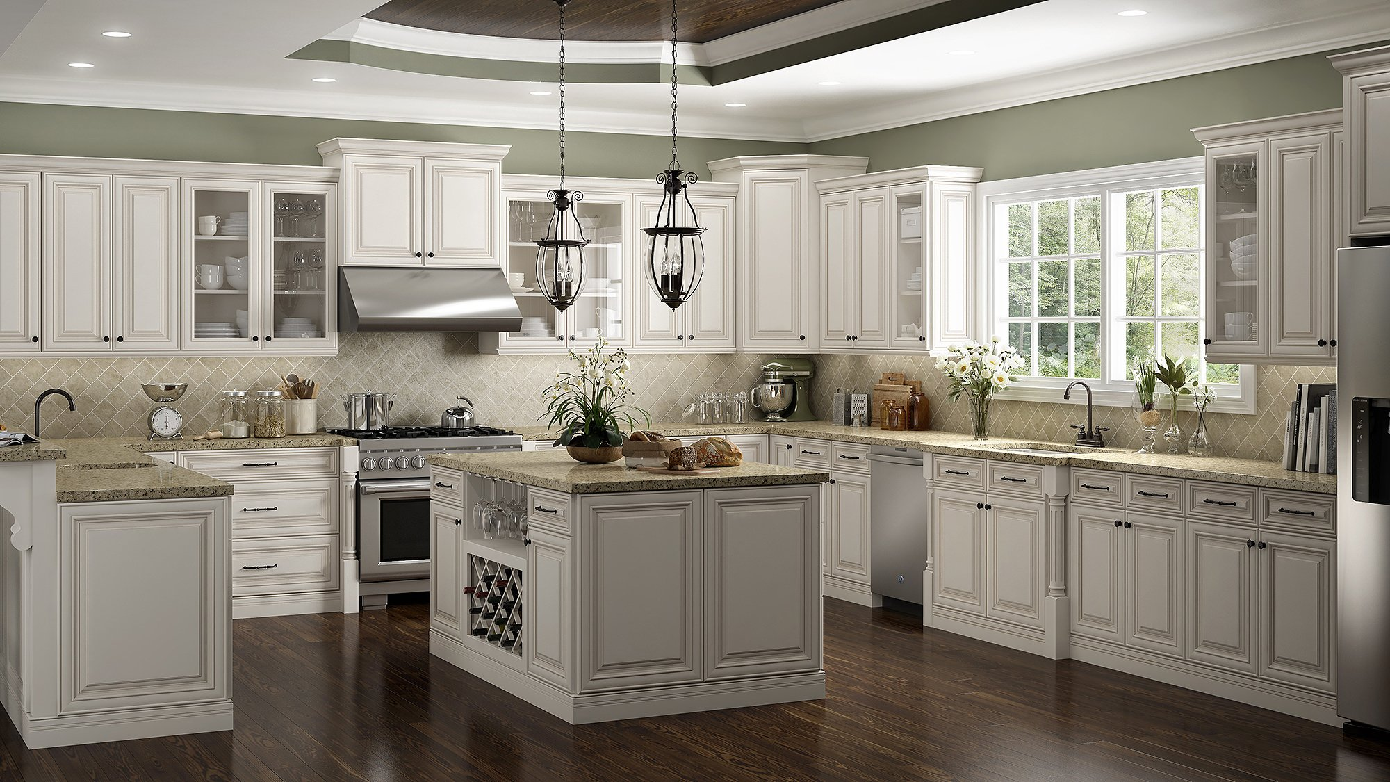 Castleberry Antique White Kitchen
