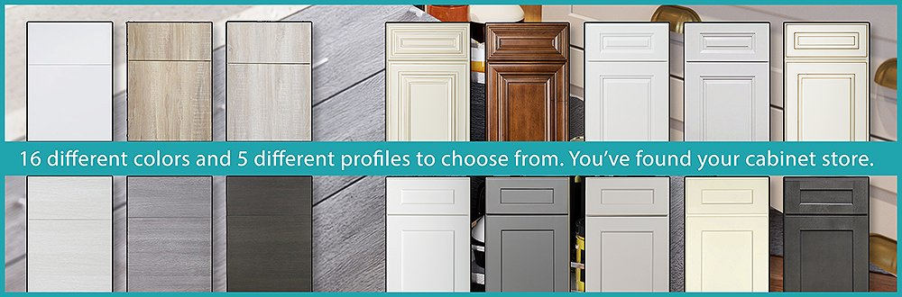 5 Designs & 16 Colors of Cabinets