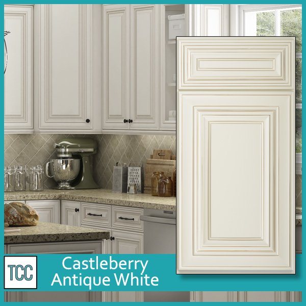 Castleberry Antique White Kitchen Cabinets