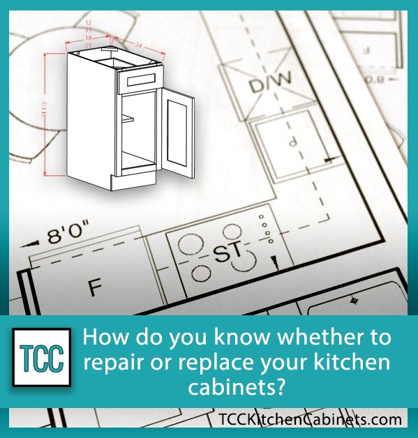 How do you know whether to repair or replace your kitchen cabinets?